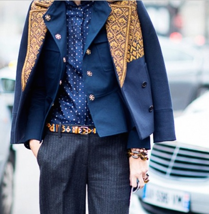 Awesome pinstripe look