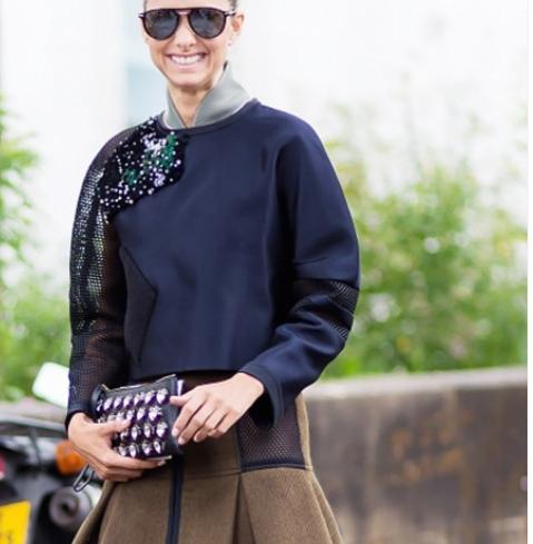 Jeweled sweatshirt w  skirt